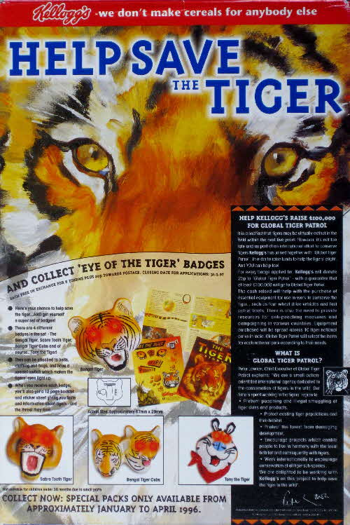 1996 Frosties Eye of the Tiger Badges