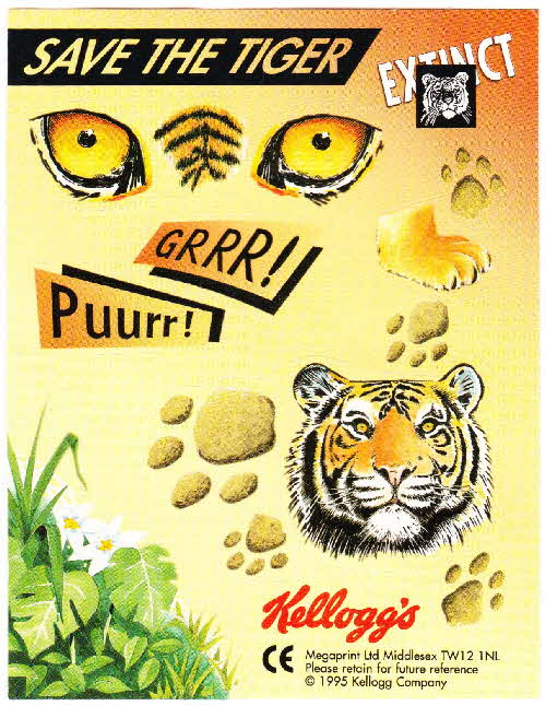 1996 Frosties Tiger Story book sticker