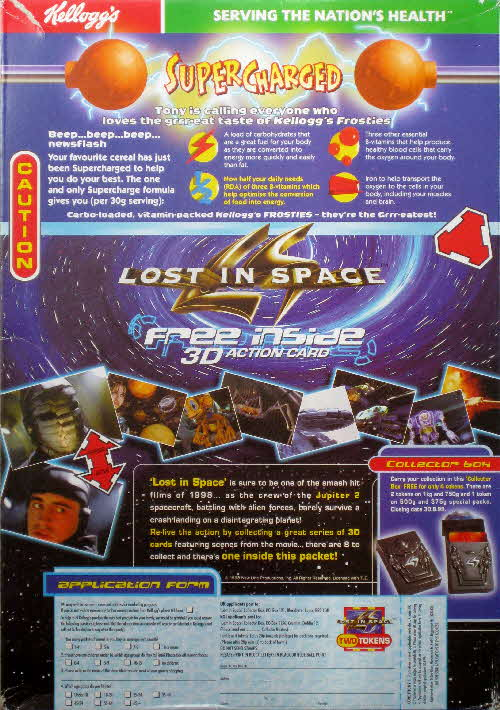 1998 Frosties Lost in Space 3D Action Cards & Case