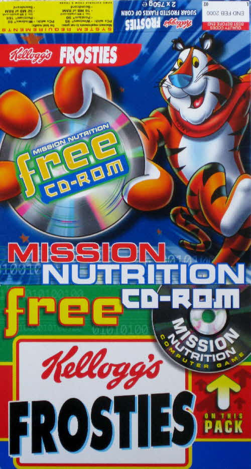 1999 Frosties Misson Nutrition CD Rom game