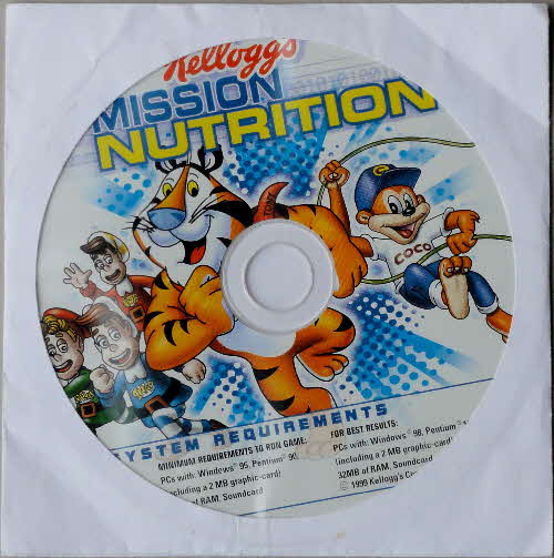 1999 Frosties Misson Nutrition CD Rom game1