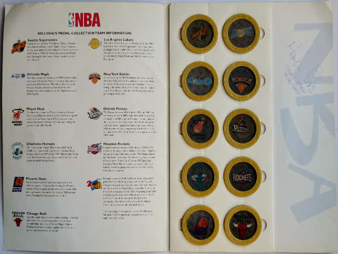 1998 Kelloggs Promotional NBA 3D Action Medals (2)