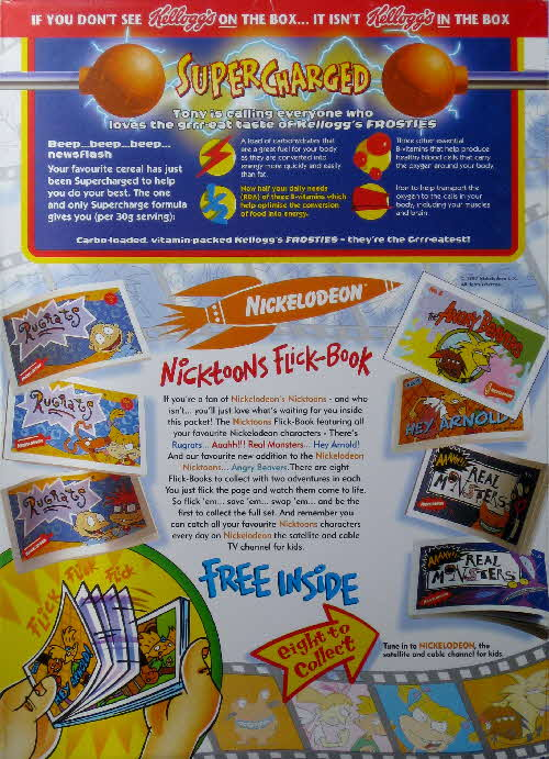 1997 Frosties Nicktoons Flick Books