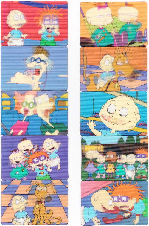 1996  Honey Nut Loops Rugrats Action Cards (2)