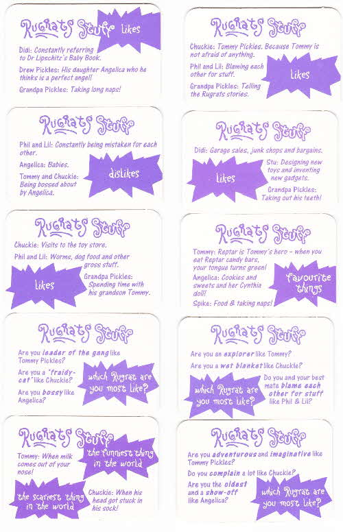 1996  Honey Nut Loops Rugrats Action Cards 2 (1)