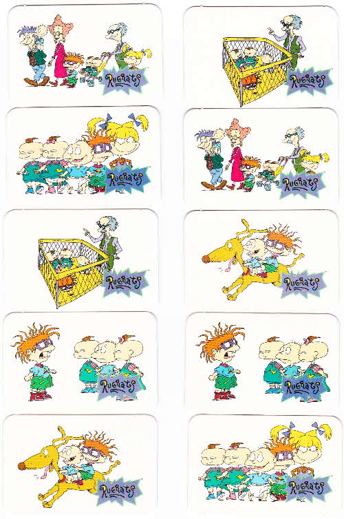 1996  Honey Nut Loops Rugrats Action Cards 2 (2)
