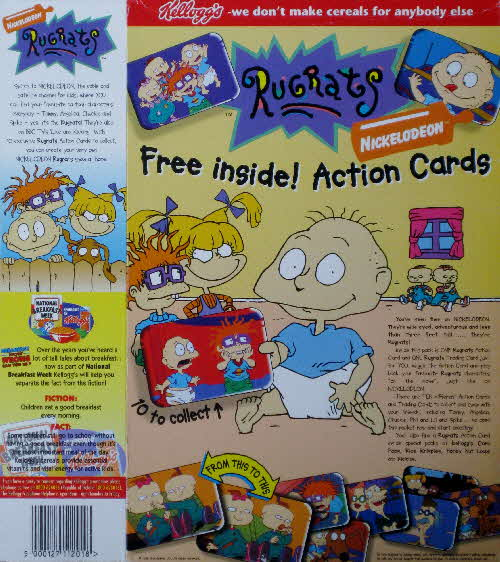 1996 Frosties Rugrats Action cards1