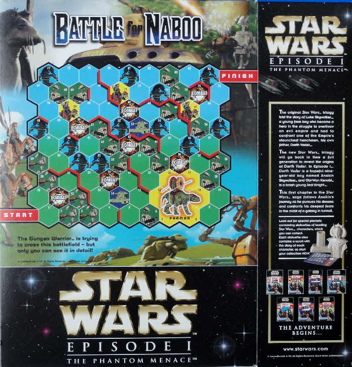 1999 Frosties Crash Pack Battle for Naboo game board