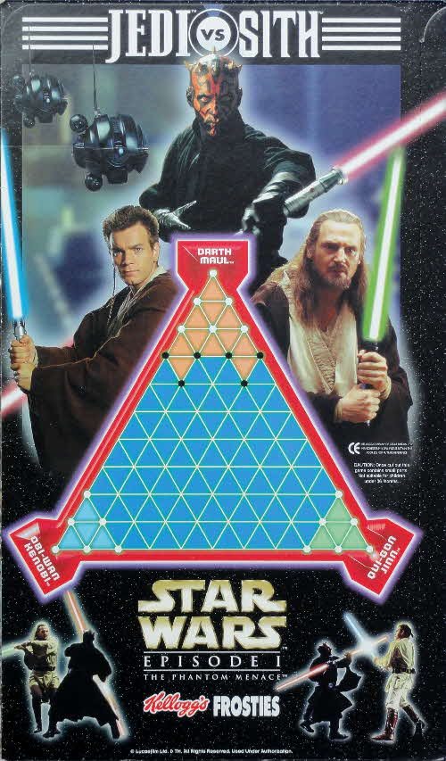 1999 Frosties Star Wars Jedi vs Sith Pack game board