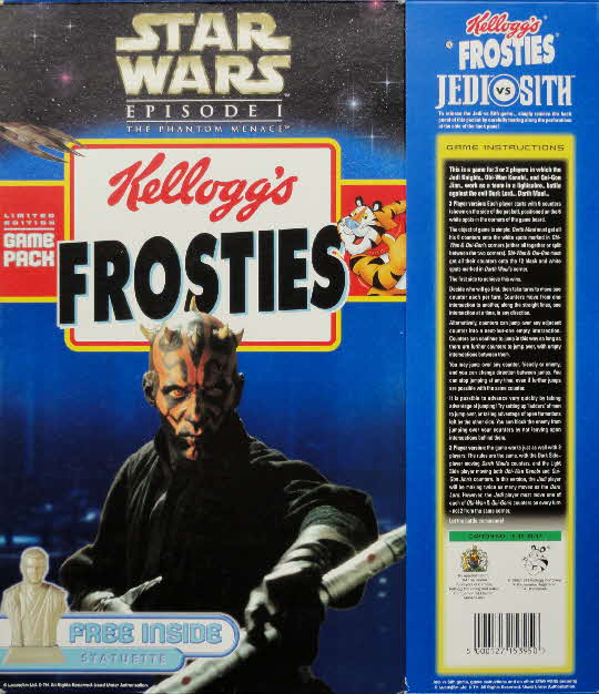 1999 Frosties Star Wars Jedi vs Sith Pack