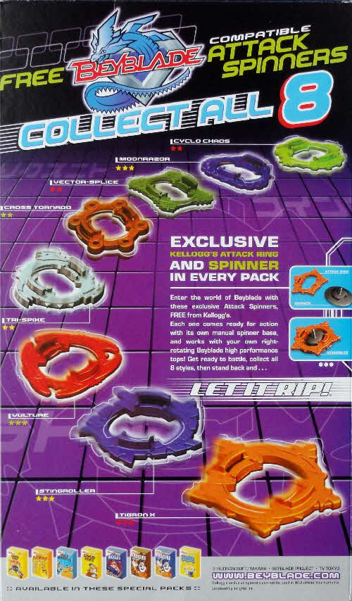 2002 Frosties Beyblades
