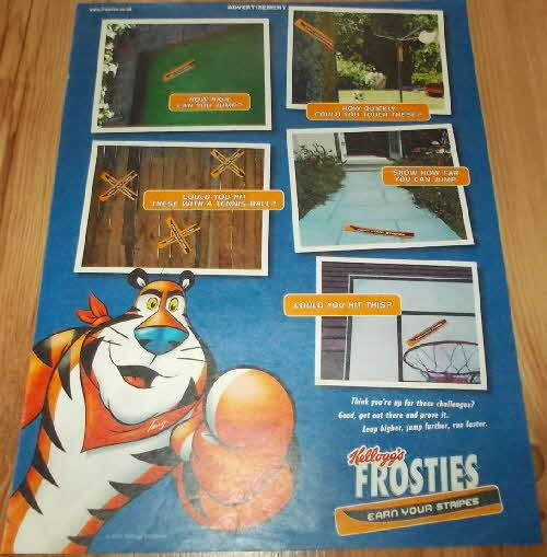 2003 Frosties Earn Your Stripes Stickers (2)