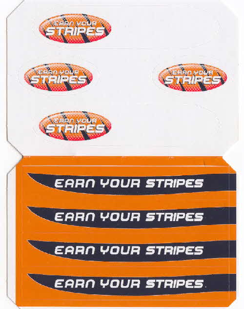 2003 Frosties Earn Your Stripes stickers