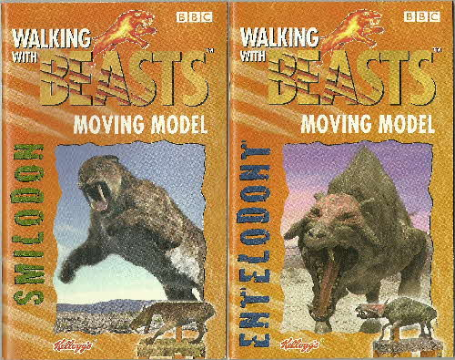 2001 Frosties Walking with Beasts Book 3 & 4 (1)