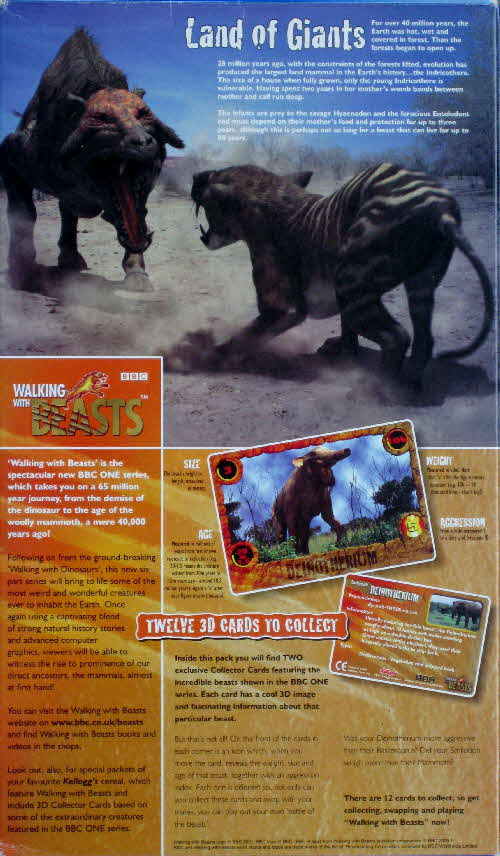 2001 Frosties Walking with Beasts Land of Giants