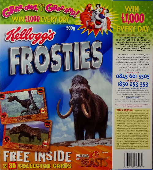 2001 Frosties Walking with Beasts Sabre Tooth & Grrrowl (1)