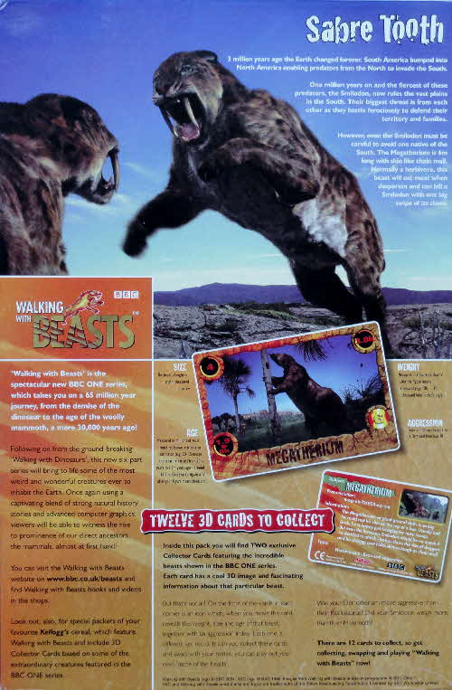 2001 Frosties Walking with Beasts Sabre Tooth