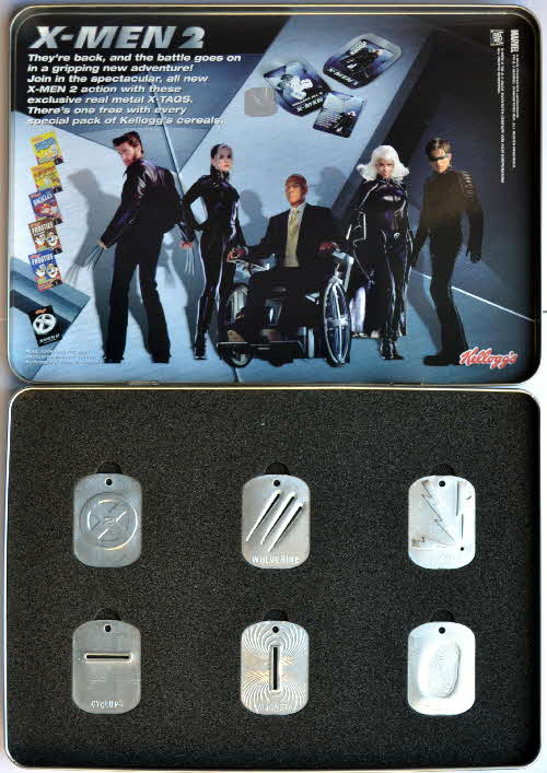 2003 Kelloggs Promotional X Men 2 Tags (2)