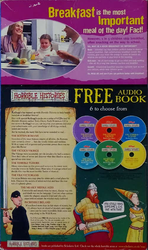 2005 Frosties Horrible Histories pack CDs (3)