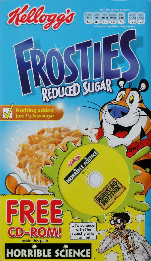 2006 Frosties Reduced Sugar Horrible Science Disgusting Digestion CD Rom front