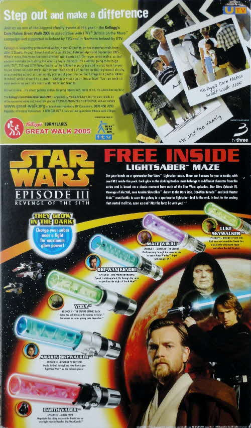 2005 Frosties Star Wars Light Sabres