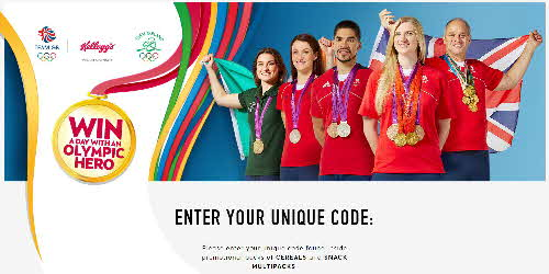 2016 Coco Pops Win an Olympic Hero Enter Code