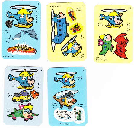 1995 Honey Nut Loops Budgie the Helicopter Sticker