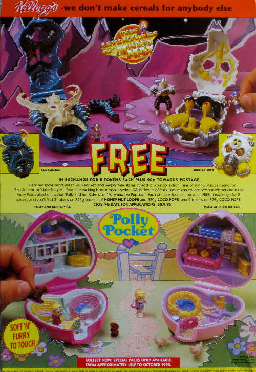 1995 Honey Nut Loops Mighty Max & Polly Pocket compacts 2nd series