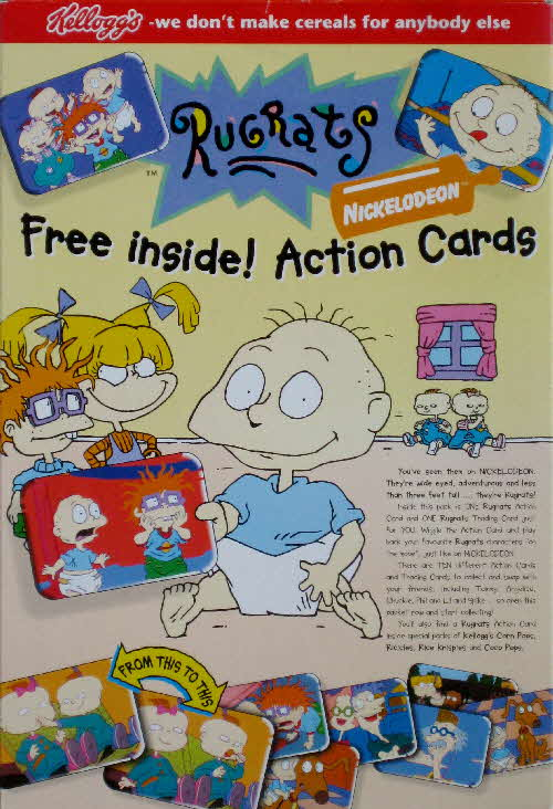 1996 Rugrats Action Cards issued in Kelloggs Honey Loops