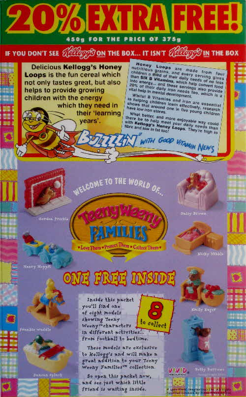 1997 Honey Nut Loops Teeny Weeny Families