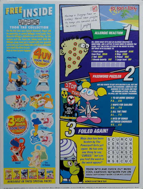 2002 Honey Loops Cartoon Network Tags