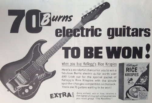 1960s Rice Krispies Electric Guitar competition ad