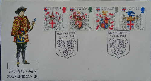 1983 Rice Krispies Heraldry Souvenir Stamp Cover
