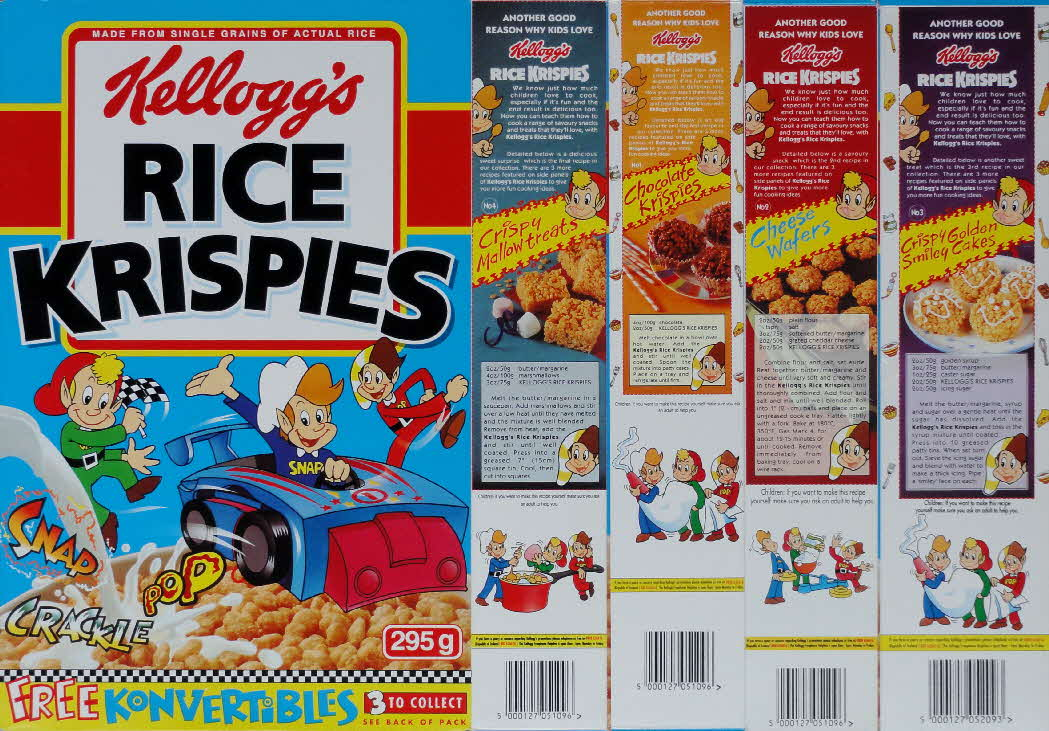 1995 Rice Krispies recipes set Konvertables front
