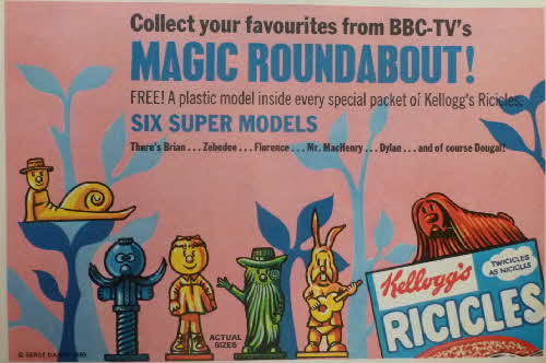 1969 Ricicles Magic Roundabout Model Figures