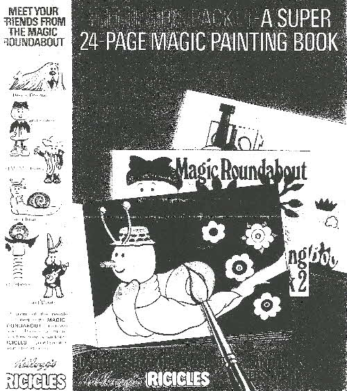 1969 Ricicles Magic Roundabout Magic Painting Book (betr)