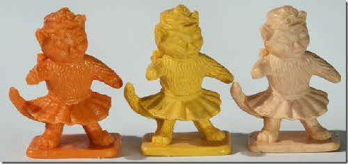 1962 & 1967 Ricicles Noddy Figures - Miss Fluffy Cat variations