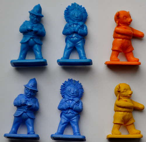 1962 & 1967 Ricicles Noddy Figures - variations