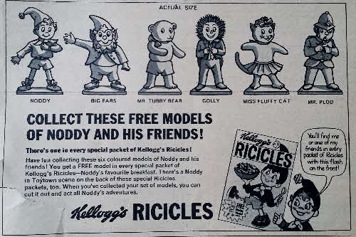 1967 Ricicles Noddy & Friends Figures ad