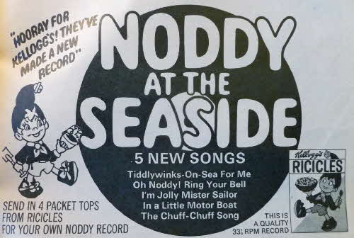1968 Ricicles Noddy at the Seaside Record1