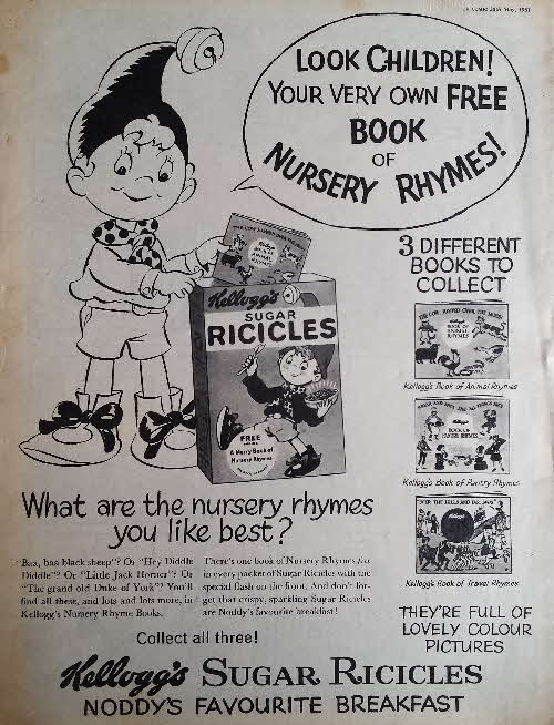 1961 Ricicles Book of Nursey Rhymes Ad