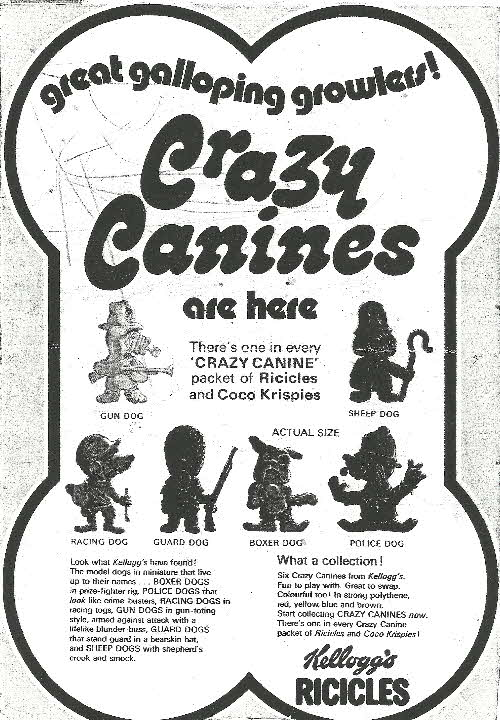 1972 Ricicles Crazy Canines R&L (betr)