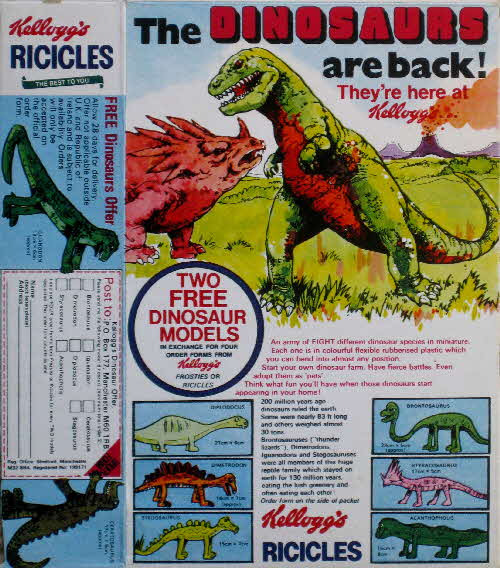 1970s Ricicles Flexible Dinosaurs