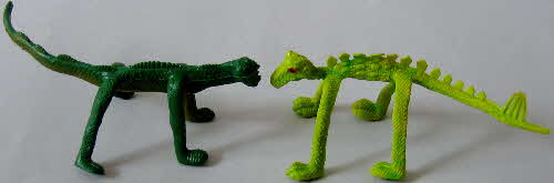 1970s Ricicles Flexible Dinosaurs1