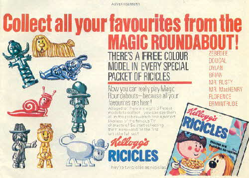 1970 Ricicles Magic Roundabout figures