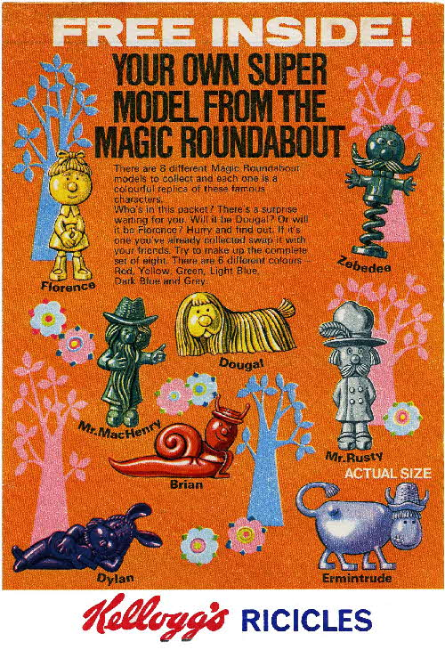 1970 Ricicles Magic Roundabout figures1