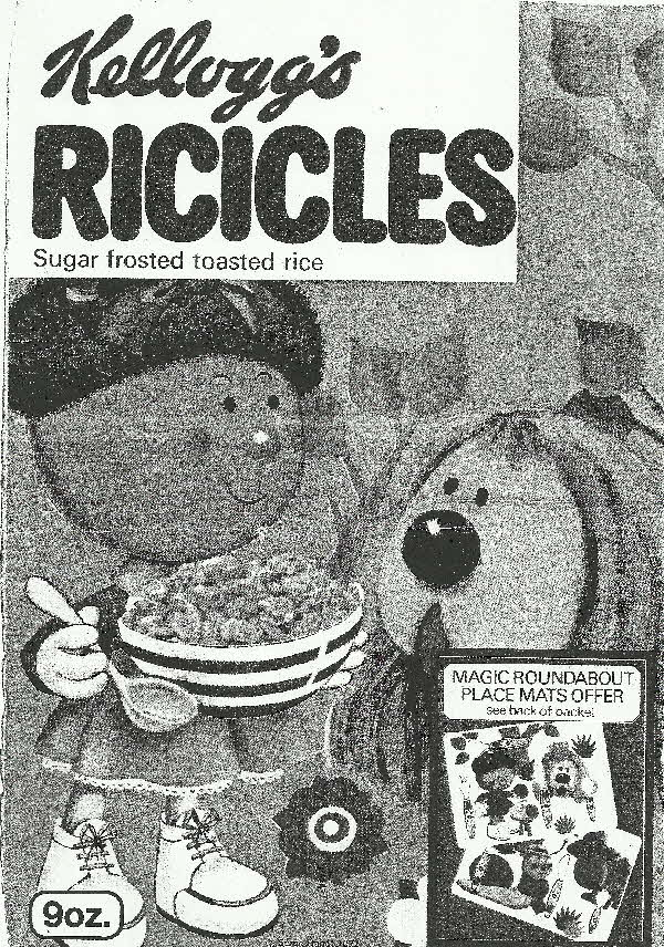 1970s Ricicles Magic Roundabout Place Mats (betr)