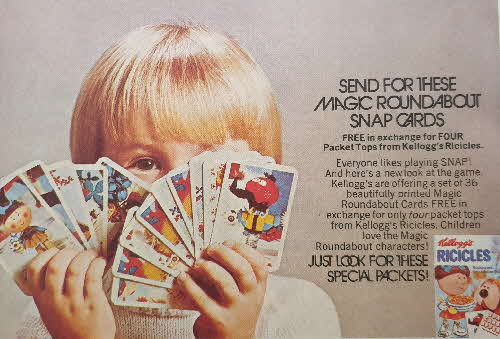 1972 Ricicles Magic Roundabout Snap Cards