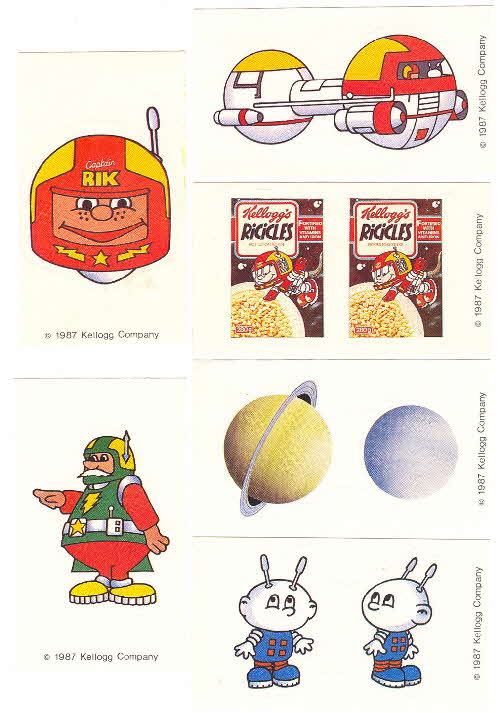 1987 Ricicles space stickers