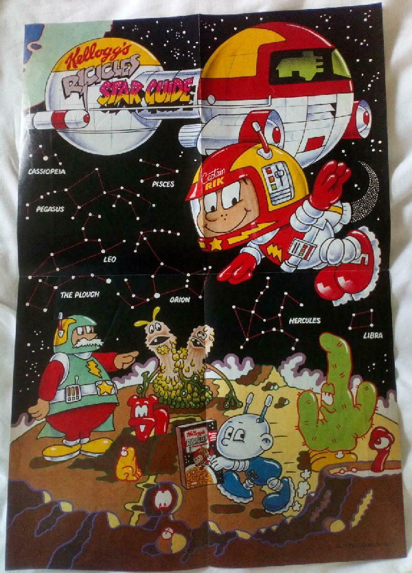 1987 Ricicles Star Guide Poster